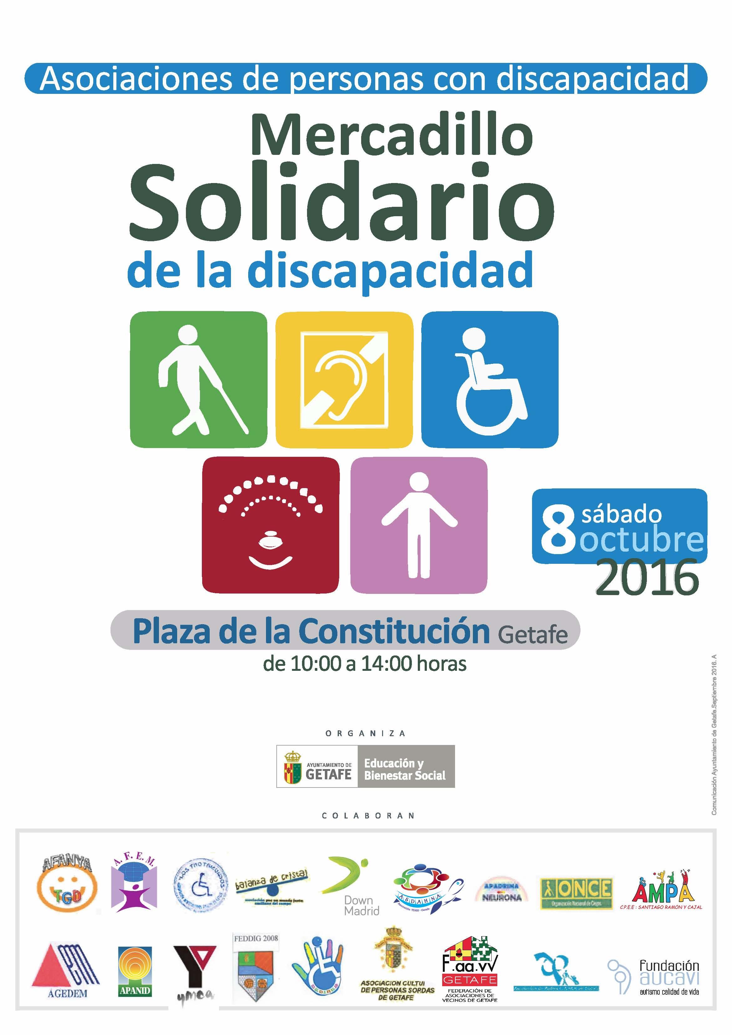 Getafe contará este sábado con un mercadillo solidario por la discapacidad
