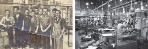 operarios-de-montaje-en-1956-y-linea-de-taladros
