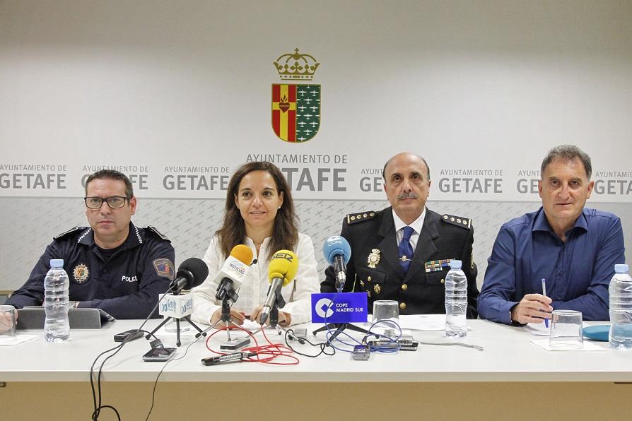 Getafe inicia nuevas medidas para continuar mejorando la seguridad en coordinación con Policía Local y Cuerpo Nacional de Policía