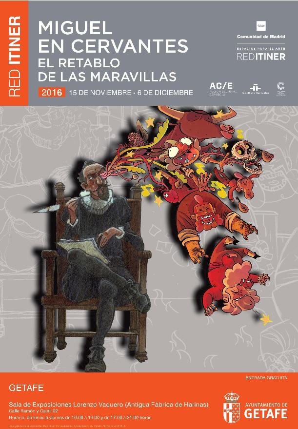 Se abre en Getafe la exposición 'Miguel en Cervantes. El retablo de las maravillas'