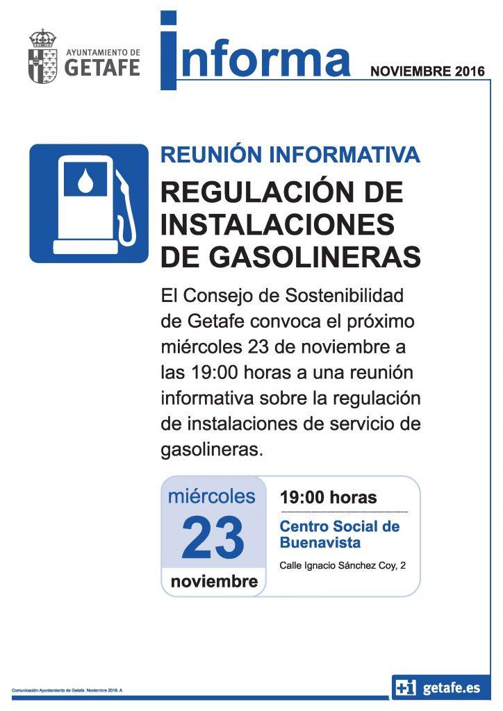 Reunión informativa en Getafe sobre la regulación de instalaciones de gasolineras