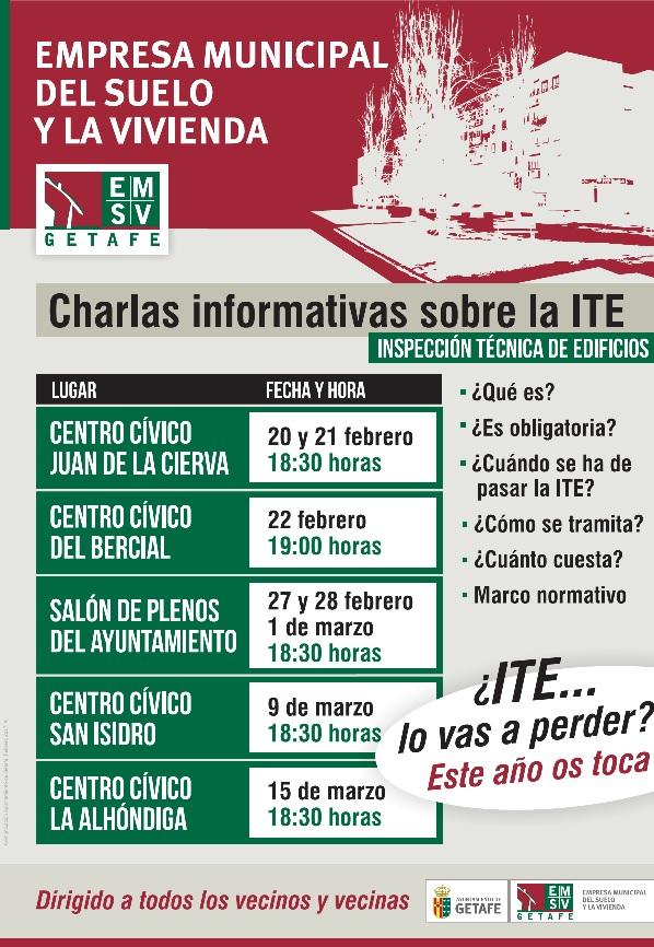 Calendario inspección técnica de edificios de Getafe