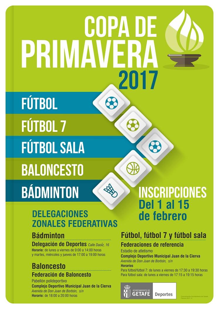 Hoy se abre en Getafe el plazo de inscripción para la 'Copa de Primavera' 2017