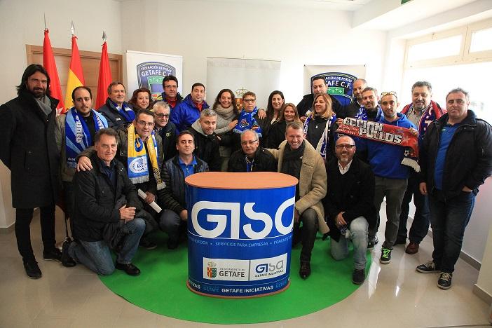 La Federación de Peñas del Getafe C.F. disfruta de su nuevo local cedido por GISA