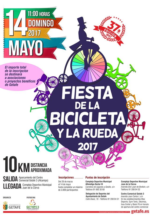 Getafe celebrará su XXXVII Fiesta de la Bicicleta y la Rueda el próximo 14 de mayo