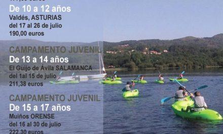 Niños y jóvenes de Getafe podrán disfrutar de campamentos de verano en Castilla y León, Asturias y Galicia