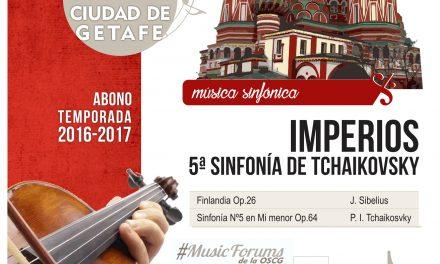 La OSCG presenta su nuevo concierto de la temporada 2016/2017 el domingo 7 de mayo en Getafe