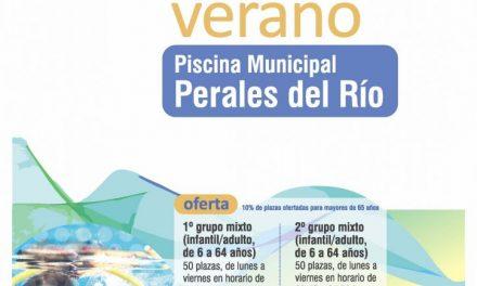 Abierto el plazo de inscripción de la campaña de natación de verano en la piscina de Perales del Río