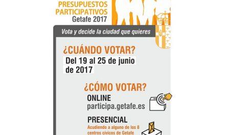 En Getafe se podrá votar online las propuestas de Presupuestos Participativos del 19 al 25 de junio