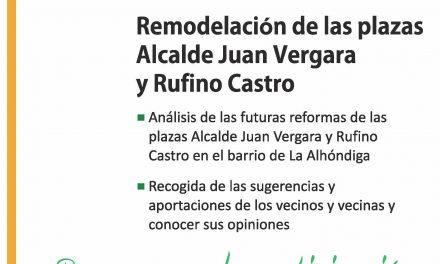 Asamblea vecinal en el barrio de La Alhóndiga para consensuar la remodelación de las plazas Alcalde Juan Vergara y Rufino Castro
