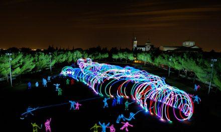 Getafe ha sido el escenario de la fotografía más grande del mundo en la técnica de light painting