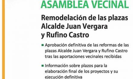 Los vecinos decidirán este jueves sobre la reforma de las plazas Rufino Castro y Alcalde Juan Vergara