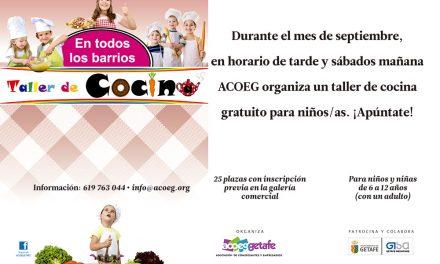 Acoeg realizará atractivos talleres de cocina para niños durante todo el mes de septiembre