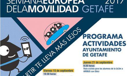 El Ayuntamiento de Getafe organiza un programa de actividades para promocionar la movilidad limpia y compartida