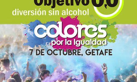 El Ayuntamiento de Getafe organiza la carrera 'Colores por la Igualdad' donde los participantes se cubrirán de polvos de colores