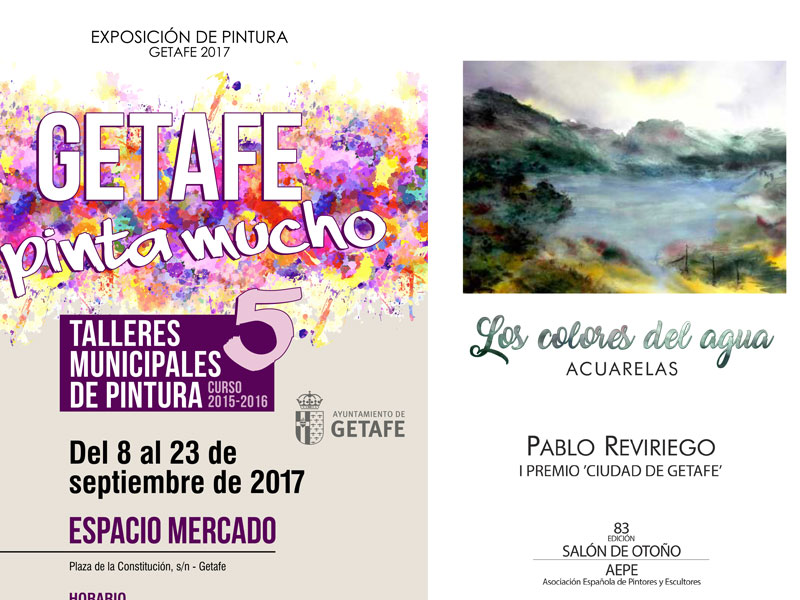 Dos exposiciones de pintura ocupan la agenda artística cultural de Getafe