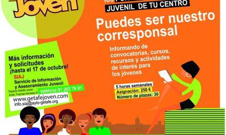 Abierto el plazo para ser corresponsal de información juvenil dentro del programa 'EnRédate con Getafe'