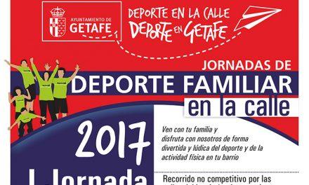 Vuelven las jornadas de 'Deporte Familiar en la Calle' organizadas por el Ayuntamiento de Getafe