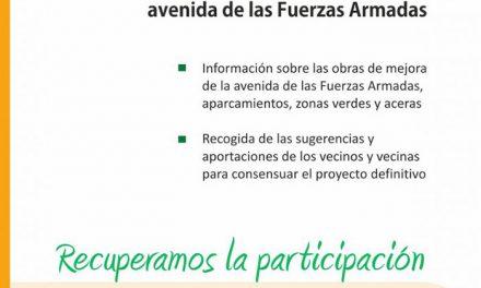 Asamblea vecinal el 18 de octubre para consensuar la rehabilitación de la avenida de las Fuerzas Armadas