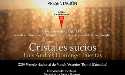 Luis Andrés Domingo Puertas, colaborador de Ayer&hoy Getafe, presenta su poemario 'Cristales sucios'