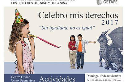 Los niños y niñas de Getafe están invitados a celebrar sus derechos con talleres de ocio el próximo domingo