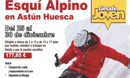 El Ayuntamiento de Getafe organiza una Semana de Iniciación al Esquí Alpino para jóvenes