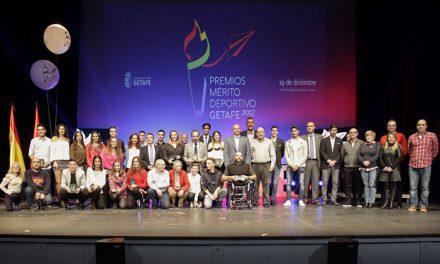 Deportistas y entidades de Getafe homenajeados en la Gala de los Premios al Mérito Deportivo
