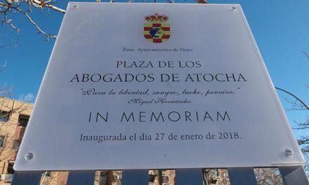 Inauguración de la Plaza en homenaje a los Abogados de Atocha