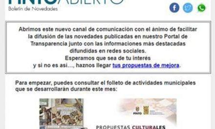 El Ayuntamiento de Pinto ofrece PintoAbierto, un nuevo servicio de información municipal