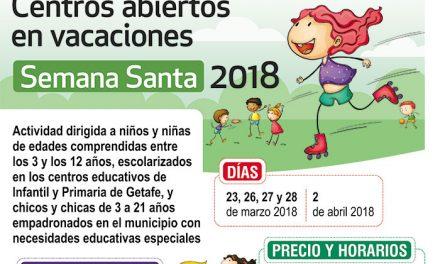 Tres colegios abiertos en Semana Santa para facilitar la conciliación familiar y laboral en Getafe
