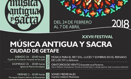 Comienza el XXVII Festival de Música Antigua y Sacra 'Ciudad de Getafe' con un programa de 14 conciertos