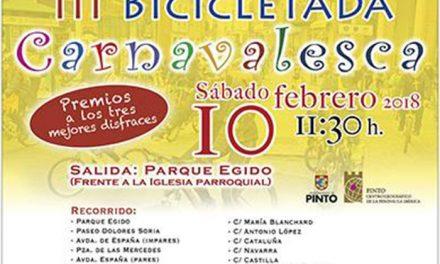 Pinto celebra la tercera edición de su Bicicletada Carnavalesca
