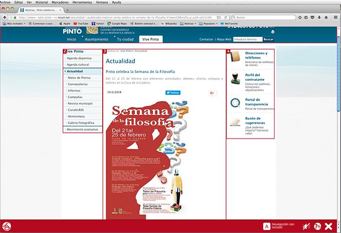 Servicio de accesibilidad y usabilidad de la web municipal