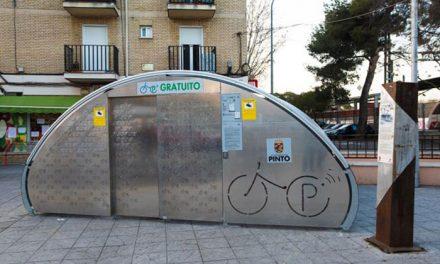 Pinto contará con un aparcamiento seguro de bicicletas, junto a la estación de Renfe