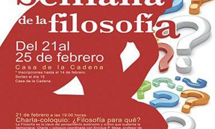 Pinto celebra la Semana de la Filosofía