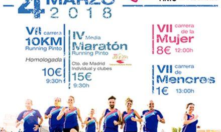 Fiesta del atletismo y carreras solidarias en Pinto