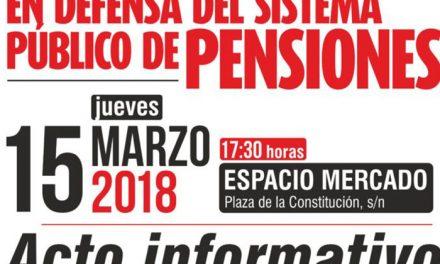 Acto informativo sobre las pensiones este jueves en Getafe