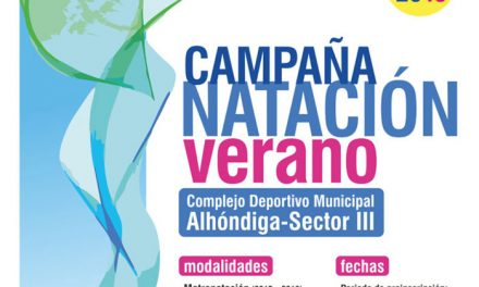 El lunes 2 de abril se abre el plazo de preinscripciones para la Campaña de Natación de Verano en el Complejo Deportivo Municipal 'Alhóndiga-Sector III'