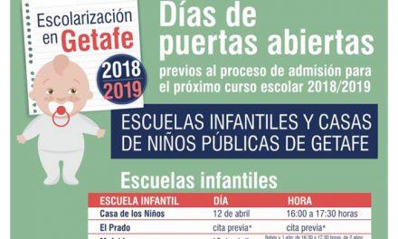 Las Escuelas Infantiles y Casas de Niños públicas celebrarán días de puertas abiertas para que los padres y madres puedan conocerlas