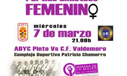 Partido amistoso femenino entre equipos de Pinto y Valdemoro
