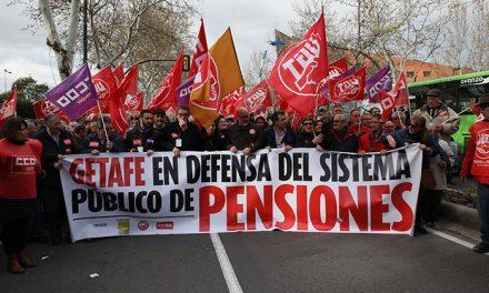 2.300 mayores participaron en la manifestación por unas pensiones dignas celebrada en Getafe