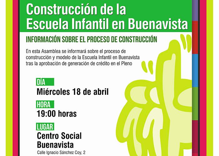 El Ayuntamiento de Getafe convoca una asamblea para informar sobre la escuela infantil de Buenavista