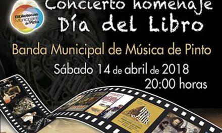 La banda municipal de Pinto rinde homenaje al día del libro