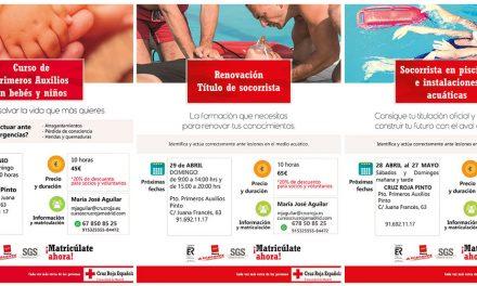 Cursos de Cruz Roja en Pinto y Getafe