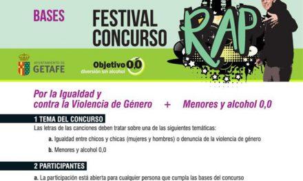 El Ayuntamiento de Getafe organiza un concurso de rap sobre igualdad, contra la violencia de género y el alcohol a menores