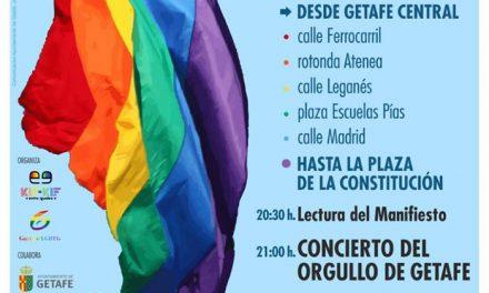 Getafe celebra el Orgullo con una Manifestación el sábado 23 de junio