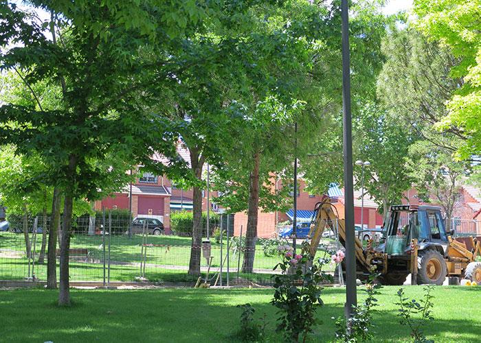 El Ayuntamiento de Getafe comienza las obras de renovación de la plaza del Mercurio en el Sector III