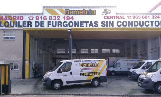 Furgonetas Demetrio, 12 años en alquiler de vehículos industriales
