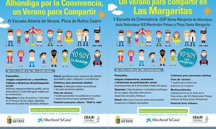 Más de 200 niños y niñas y 100 familias participan en las Escuelas de Verano por la convivencia en La Alhóndiga y Las Margaritas