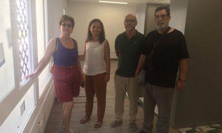 Visita de la alcaldesa a las obras de los locales municipales de la calle Gibraltar cedidos a asociaciones y entidades